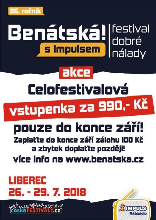 BENÁTSKÁ! s Impulsem plakatyzdarma.cz