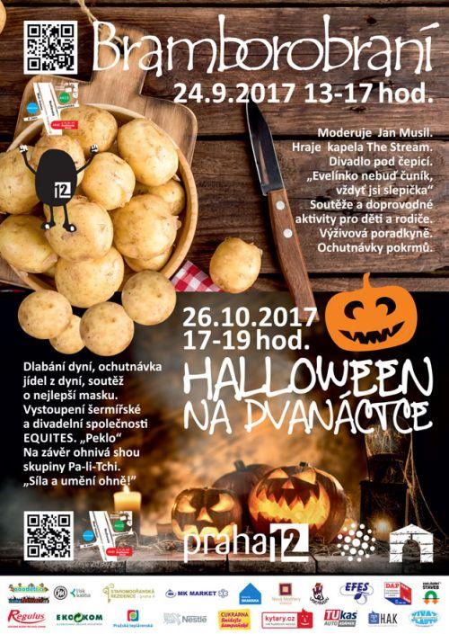 BRAMBOROBRANÍ + HALLOWEEN NA DVANÁCTCE  plakatyzdarma.cz