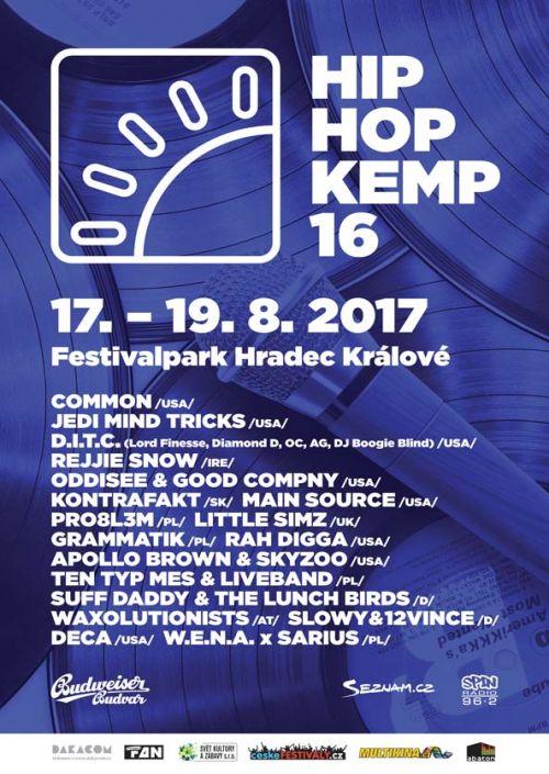 HIP HOP KEMP 2017 plakatyzdarma.cz