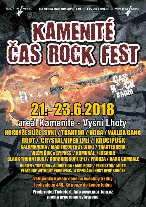 KAMENITÉ ČAS ROCK FEST 2018 plakatyzdarma.cz