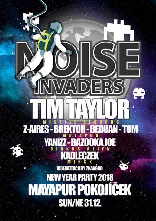 NOISE INVADERS - NEW YEAR PARTY 2018 plakatyzdarma.cz