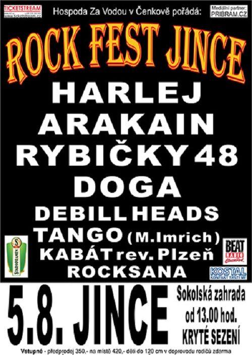 ROCK FEST JINCE 2017 plakatyzdarma.cz