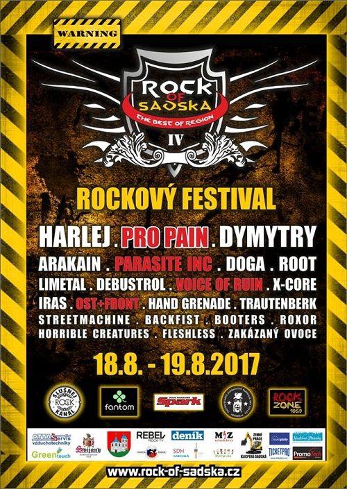 ROCK OF SADSKA 2017 plakatyzdarma.cz