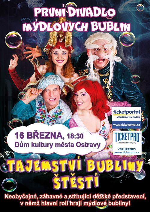 TAJEMSTVÍ BUBLINY ŠTĚSTÍ, Divadlo mýdlových bublin aaadeti.cz