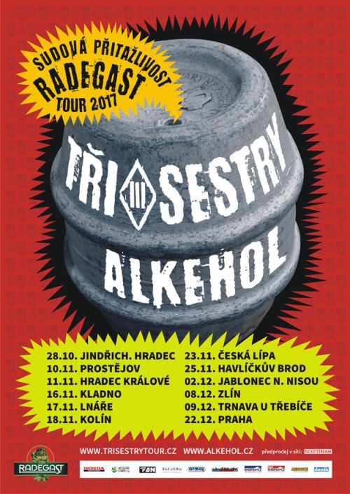 TŘI SESTRY a ALKEHOL - TOUR plakatyzdarma.cz